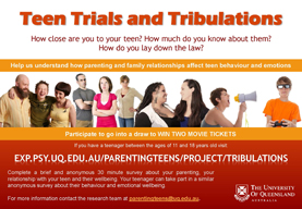 Teen trials and tribulations survey